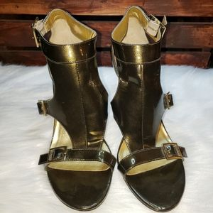 Guess by Marciano Olive Green Leather Heels